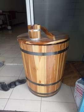 Bak mandi kayu jati minimalis