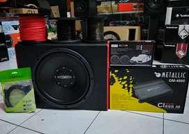 paket Audio Metallic + Subwoofer Full Instal [Dinasti Audio]