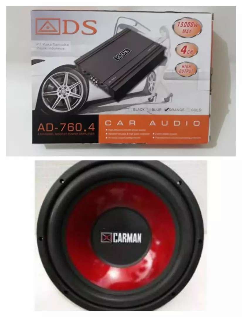Paketan Harian Power ADS 4 CHANNEL  + subwoofer Carman 12 inch baru 0