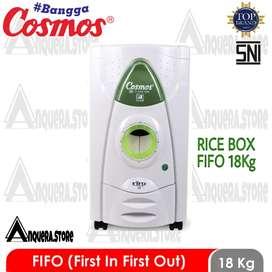 Cosmos Rice Box FIFO 18 / tempat penyimpanan beras 18kg