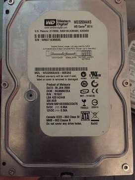 Hard Disk (sata) 320 GB Storage Capacity