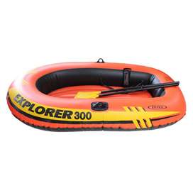 Intex Boat Explorer 300 For 3 Person 186Kg With Oars & Pump