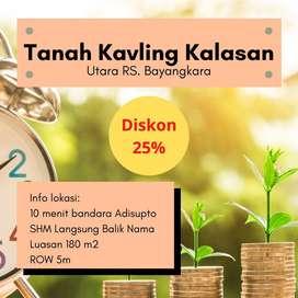 Promo 25% Kavling Dkt Adi Sutjipto SHM-P Di Yogyakarta