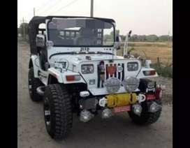 Mahindra white jeep