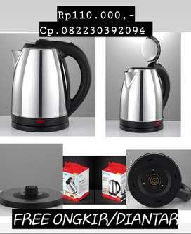 Diantar electric kettle ketel teko listrik LYQ stainless 1,8 liter