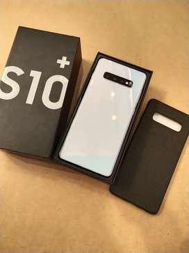 Samsung S10 plus white 8/128gb