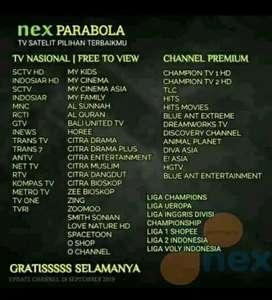 Parabola tanpa biaya bulanan channel premium