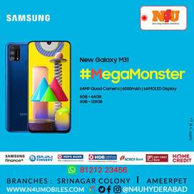 Samsung Galaxy M31 now availble EMI Free Door Delivery at N4U Mobiles