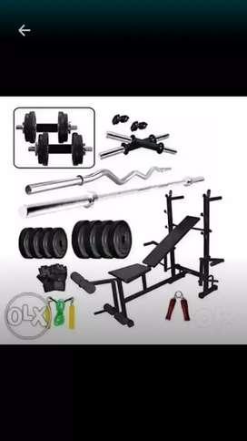 home gym equipment set
