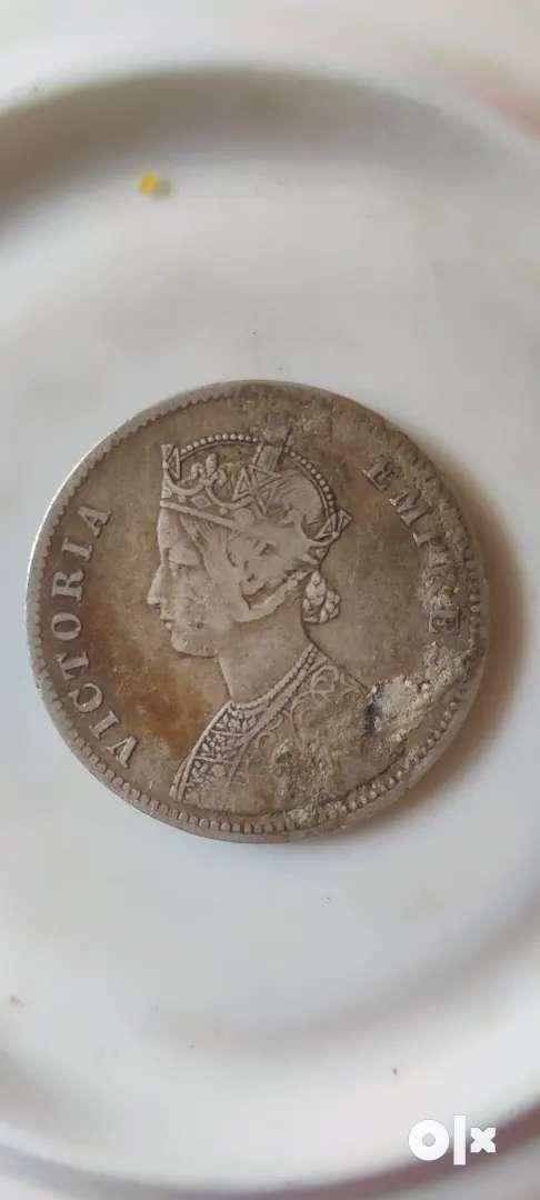 Rare sliver queen victoria coin