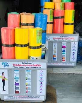 Yoga Mats Streching Band Push Up Handle Badminton Sabke Rates Alag Hai