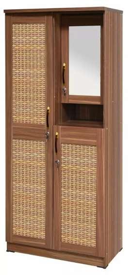 Lemari dua pintu swing ada tempat rias