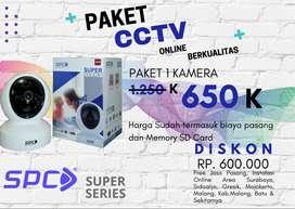 Order fullset paket cctv SPC 2Mp siap pasang kualitas
