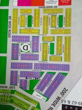 Available 4 marla plot park facing in sector 89