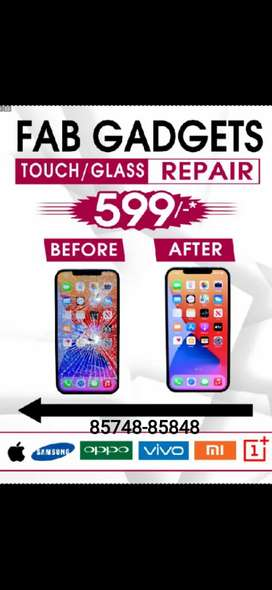 Mobile Display Cracked Glass/Touch Repair @599