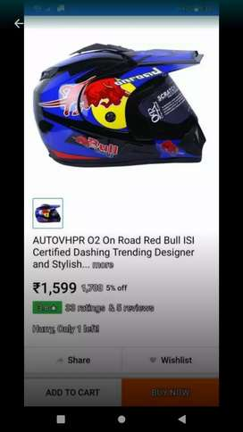 red bull on road helmate