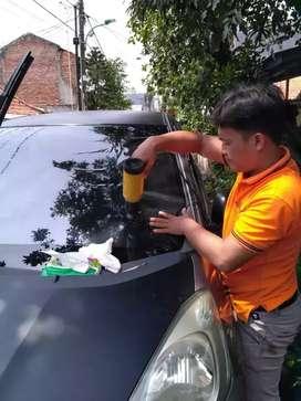 Pengerjaan kaca film mobil Delivery order