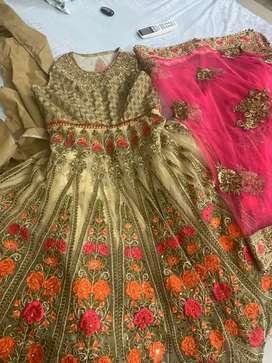 Heavy gown dress lehnga style