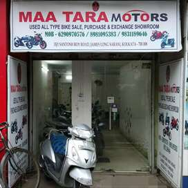 Used all type bike and Scooty available our showroom