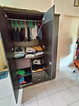 Queen size bed and cupboard