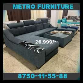 Hydraulic Sofa with Table and 2 puffy
