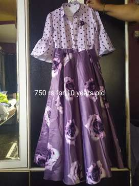 Sparingly used kids party wear dresses for sale