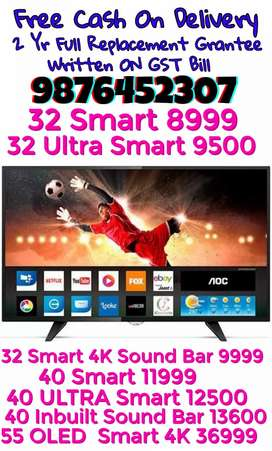 40 ULTRA Smart Led Tv 2 Yr Full Replacement Grantee GST Bill