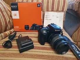 Sony A580 Lensa Kit SAM 18-55 Murah dan Komplit Khusus COD Jogja