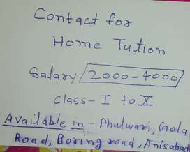 Home Tution available in Patna