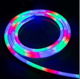 Lampu Neon Flex RBG 5meter - Neon Flex socket adaptor -