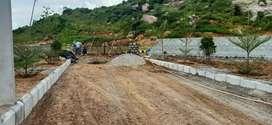 Commercial open PLOt in yadagirigitta 1 km from Temple backside