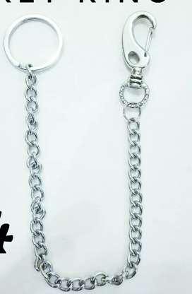 Metal chain Key Ring.