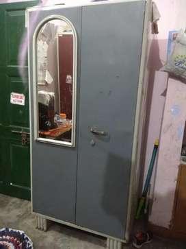 2 Door Metal Almirah With Glass