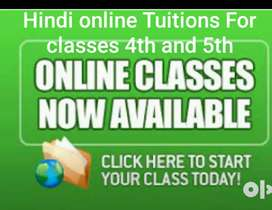 Hindi online tuitions for class 4th 5th (cbse,state)