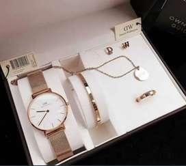 Jam tangan dw set aksesoris