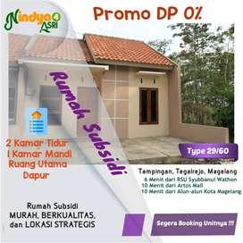 Rumah Subsidi, 10 Menit dari Artos Mall, DP 0%, Free Meja Dapur