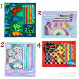 Smigle collectable eraser box - paket set alat tulis Free Ongkir