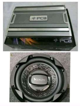 Power PCA 4 channel plus subwoofer Venom Turbo 12 in Bass Lembut