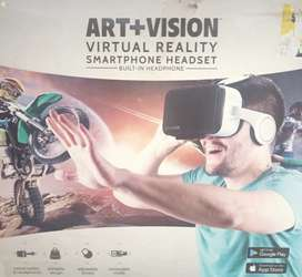 ART + VISION VIRTUAL REALITY SMART PHONE HEADSET BUILT IN HEADPHONE