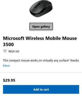 Microsoft Wireless Mobile Mouse 3500 USA American Imported