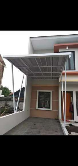 Pemasangan knopi rangka besi galpanis atap sepandek