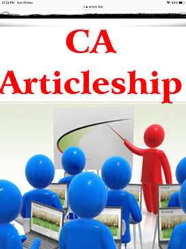 Required Candidates  for Articleship for  CA firm at Goregaon