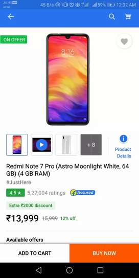 Mi note 7 pro seal pack 10999