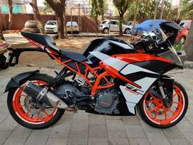 Ktm rc 390 2018 end run only 18k with first party insurance