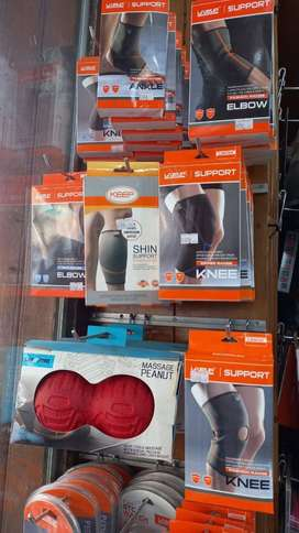 ANKLE, ELBOW, KNEE, CHIN, WRIST SUPPORT, GYM GLOVES & K TAPE