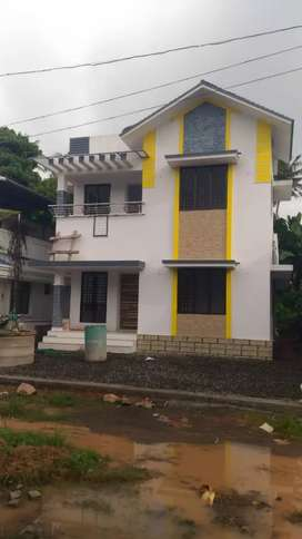 4 cent land with 1700 sqft new house at kanjoor,near airport,aluva