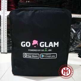 Jual Grosir Tas Souvenir Seminar Ransel komunitas Gojek Go Glam keren