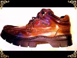 Kickers Brown Leather Shoes Imported (Sepatu Kulit asli import)