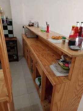 Meja cafe & meja makan 2set bangku2 kayu jati belanda kondisi 99%