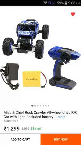 Rc cars blue cooluer very smart and high spide racs chargar and battry